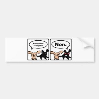 Stoned Bunnies – Parlez-vous Français? Non. Bumper Sticker