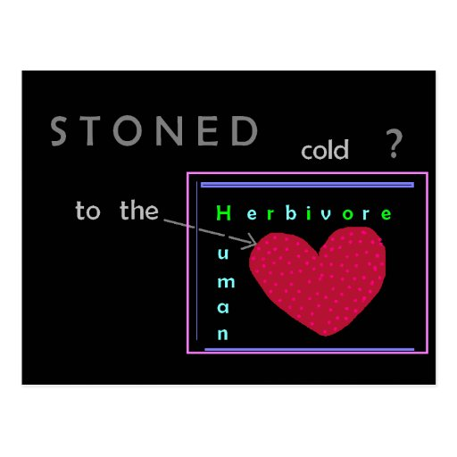 Stoned cold? Postcard