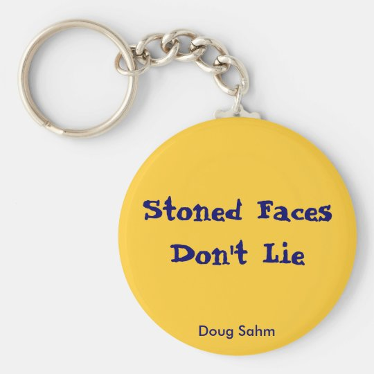 Stoned Faces Keychain