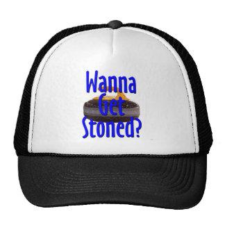 stoned trucker hat