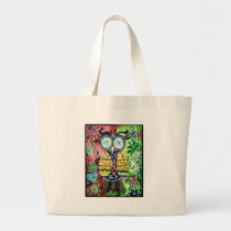 Stoned Owl Large Tote Bag