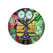 Stoned Owl Round Clock