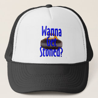 stoned trucker hat