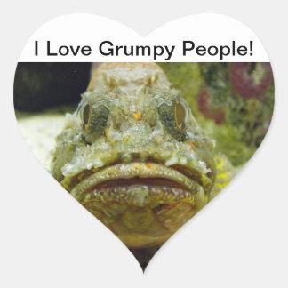 Stonefish Pegatina En Forma De Corazón