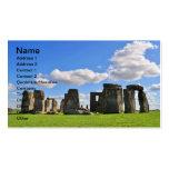 Stonehenge 12 plantilla de tarjeta personal