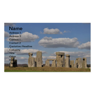 Stonehenge 14 business card template