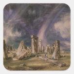 Stonehenge, 1835 calcomanía cuadradas personalizadas