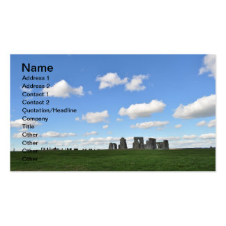 Stonehenge 18 business card