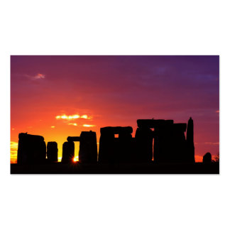 Stonehenge 3 business card template