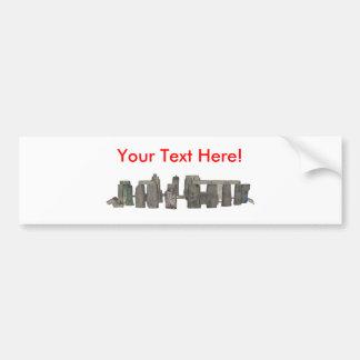 Stonehenge: 3D Model: Bumper Sticker