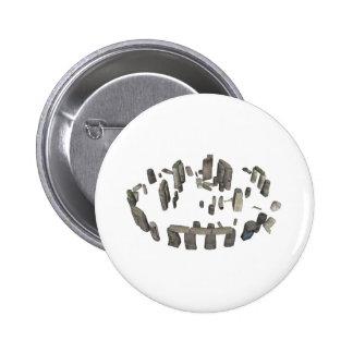 Stonehenge: 3D Model: 2 Inch Round Button