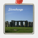 Stonehenge Adorno Navideño Cuadrado De Metal