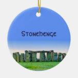 Stonehenge Adorno Navideño Redondo De Cerámica