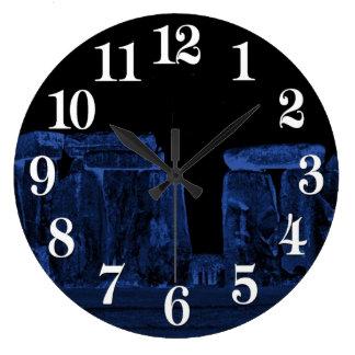 Stonehenge Ancient Historic Site of Power Large Clock