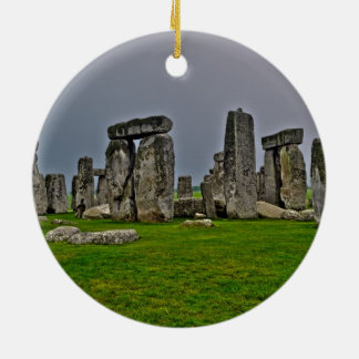 Stonehenge Ancient Historic Site of Power Double-Sided Ceramic Round Christmas Ornament