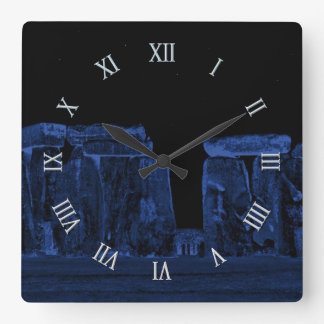 Stonehenge Ancient Historic Site of Power Square Wall Clock