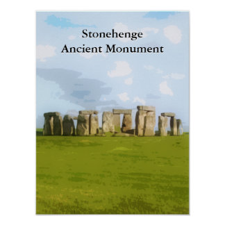 Stonehenge Ancient Monument Poster