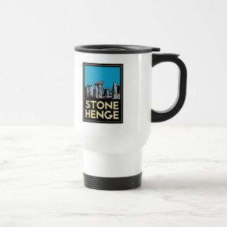 Stonehenge art deco travel poster 15 oz stainless steel travel mug