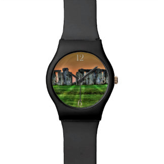 Stonehenge at Sunset Ancient History-lover's Image Wristwatches