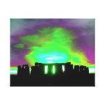Stonehenge Aurora Wrapped Canvas