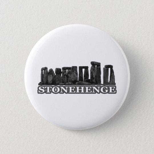 Stonehenge Black transp The MUSEUM Zazzle Gifts Pinback Button
