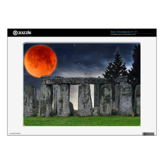 Stonehenge Celtic Standing Stones & Blood Moon Acer Chromebook Decal