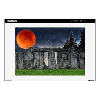 Stonehenge Celtic Standing Stones & Blood Moon Laptop Decal