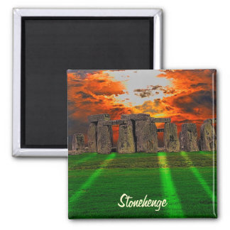 Stonehenge Celtic Standing Stones in Britain 2 Inch Square Magnet