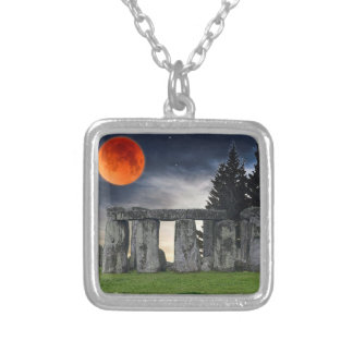 Stonehenge Celtic Standing Stones in Britain Silver Plated Necklace
