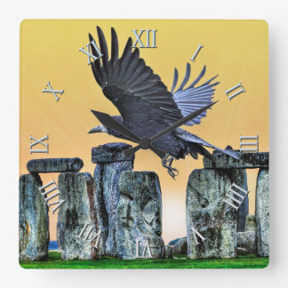 Stonehenge Celtic Standing Stones in Britain Square Wall Clock