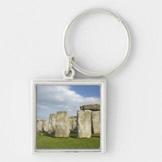 Stonehenge (circa 2500 A.C.), mundo 3 de la UNESCO Llavero Cuadrado Plateado