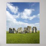 Stonehenge (circa 2500 A.C.), mundo de la UNESCO Póster