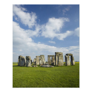 Stonehenge (circa 2500 BC), UNESCO World Poster