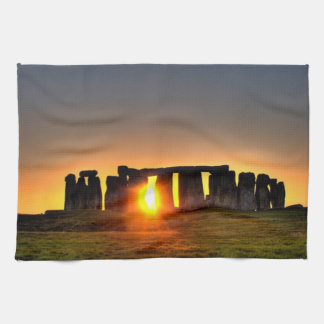 Stonehenge colour photograph. towel