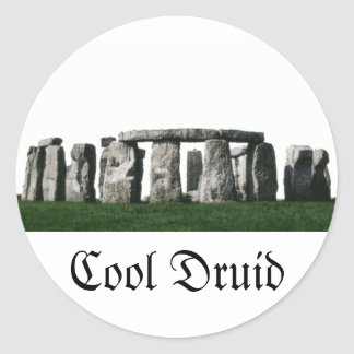 Stonehenge - Cool Druid Classic Round Sticker