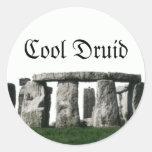 Stonehenge - druida fresco etiquetas redondas