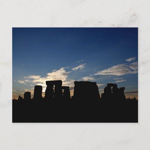 Stonehenge dusk postcard postcard