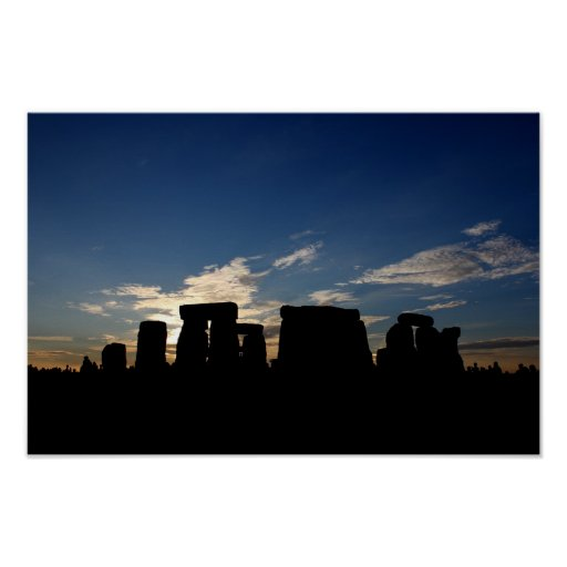 Stonehenge dusk poster