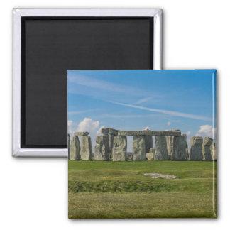 Stonehenge en Inglaterra Imán Cuadrado