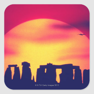 Stonehenge, England 2 Square Sticker