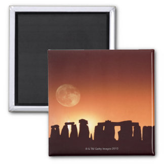 Stonehenge, England 3 2 Inch Square Magnet