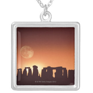Stonehenge, England 3 Silver Plated Necklace