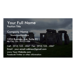Stonehenge England rock formation Business Card Templates