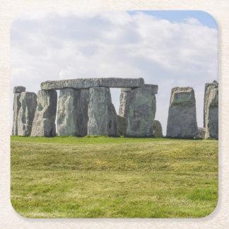 Stonehenge England Square Paper Coaster