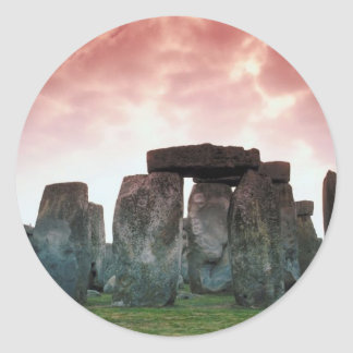 Stonehenge Etiqueta Redonda