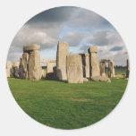 Stonehenge Etiquetas Redondas