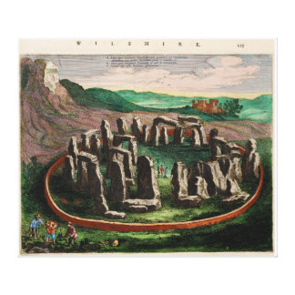 Stonehenge from Atlas Van Loon 1649 Canvas Print