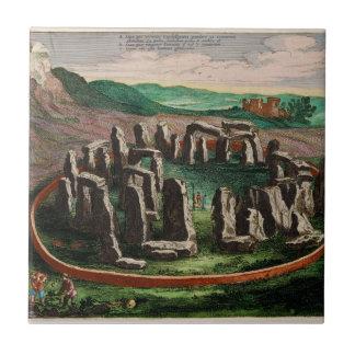 Stonehenge from Atlas Van Loon 1649 Ceramic Tile