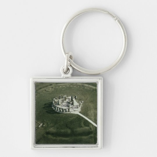 Stonehenge from the air keychain