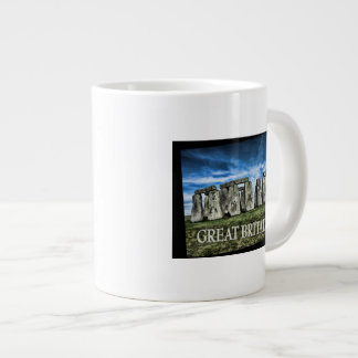 Stonehenge Image with  Caption Great Britain Giant Coffee Mug